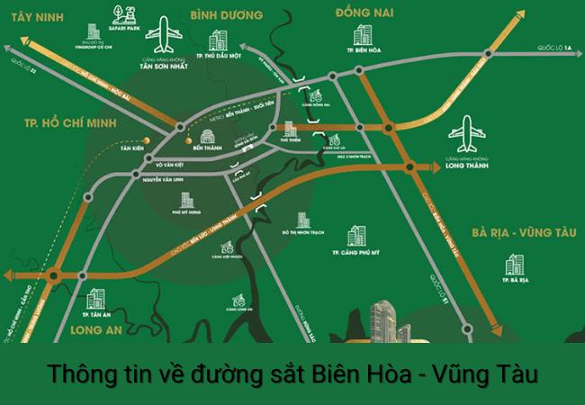 Đường sắt Biên Hòa Vũng Tàu thuận lợi cho bất động sản nghỉ dưỡng bà rịa vũng tàu