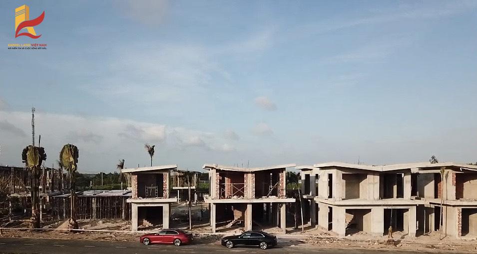 Hình ảnh thi công khu dân cư Phan Gia do Kapple Land làm chủ đầu tư
