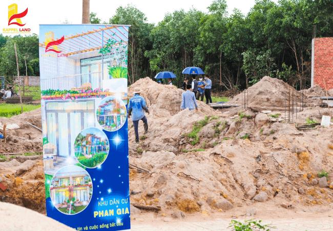 Hình ảnh tiến độ thi công dự án khu dân cư Phan Gia